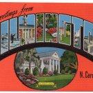 WILMINGTON, North Carolina large letter linen postcard Kropp