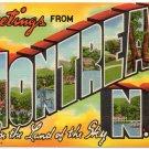 MONTREAT, North Carolina large letter linen postcard Teich