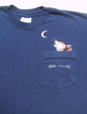 MONO VILLAGE embroidered coyote LARGE T-SHIRT california high sierras