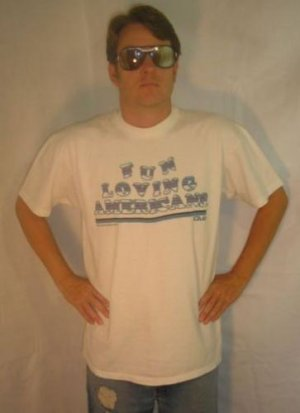 FUN LOVING AMERICAN'S CLUB vintage 1987 vtg XL T-SHIRT