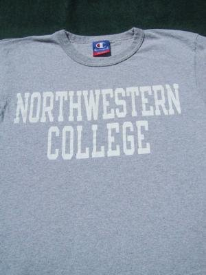 NORTHWESTERN COLLEGE champion brand ADULT Small T-SHIRT