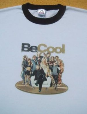 BE COOL transfer XL ringer T-SHIRT travolta thurman
