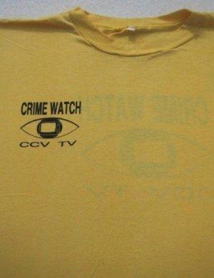 vintage CRIME WATCH - CCV TV --- Large T-SHIRT thin vtg