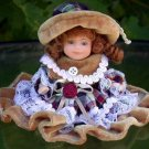 Doll - brown velvet