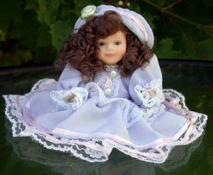 Doll - purple dress