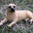 Yellow Labrador Retriever Dog Figurine