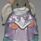 Christmas Ornament Mouse Angel with Song Book