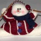 Christmas Ornament Snowman Skiing