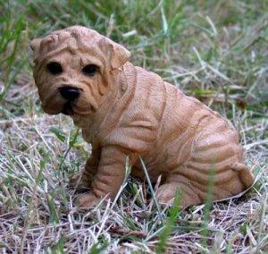 Shar-pei Dog Figurine