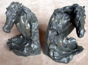 Bookends HorseHeads Bronze Finish Liberty Bronze Collection