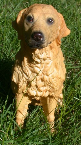 """Golden Retriever Dog Figurine 6 3/4"""""""