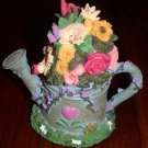 Watering Can Music Box with Flower Bouquet