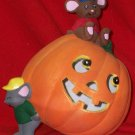 Halloween Jackolantern with 2 Mice Light