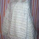 Creamy Vintage Crocheted Shawl