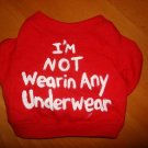 'im not wearing any underwear' handmade shirt