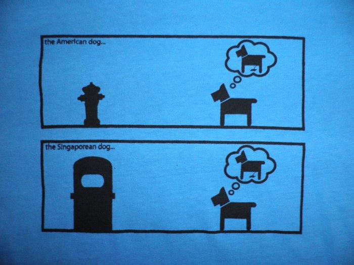 Dog Pee Location: American dog vs singapore dog (CODE: DPC)