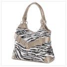 Zebra Print Sequin Bag