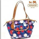 AUTHENTIC COACH POLKA DOT PRINT LEAH TOTE BAG 14667 - NEW WITH TAG