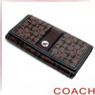 NEW WITH TAG COACH CHELSEA SIGNATURE SLIM ENVELOP WALLET 43927 - BROWN