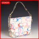 COACH OPTIC PRINT CARLY HANDBAG PURSE 16274 - NEW WITH TAG