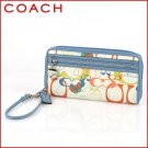 NEW WITH TAG COACH DAISY OPTIC LARGE ZIP AROUND WRISTLET 44992 - MULTICOLOR