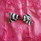 Zebra print with pink center. without crystals