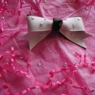 Brown/Pink Bow/ Crystals