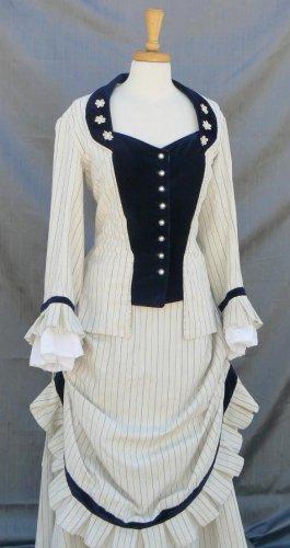 Victorian Bustle Gown Velvet Wishing Dress Train