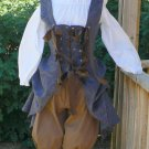 Renaissance Pirate Outfit with Bustle Skirt Breeches LARP Wench