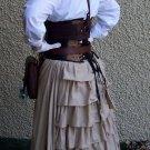Steampunk Bustle Skirt Ruffles Airship Victorian Style Underskirt LARP