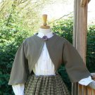 Zouave Jacket  Skirt Set Civil War Style Bolero in Cotton Plaid