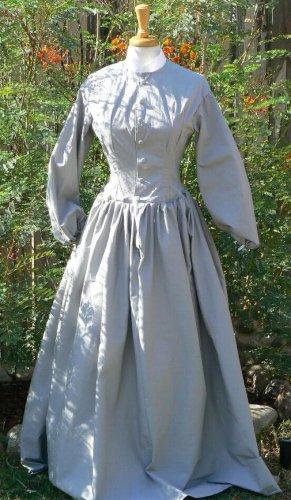 Civil War Camp Work Dress Prairie Cotton LARP Custom