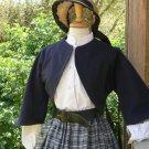 Zouave Jacket Civil War Bolero Style Cropped Jacket Cotton Canvas