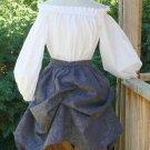Renaissance Chemise Peasant Blouse Long Sleeve Cotton LARP Shirt