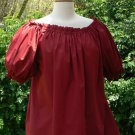 Peasant Blouse Short Sleeve Renaissance Pirate Wench Chemise in Cotton