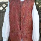 Pirate Vest Colonial Waistcoat Jack Sparrow LARP Brocade Style