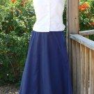 Victorian Bustle Skirt in Cotton Western Cowboy Drawstring