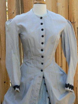 Bustle Dress Victorian Polonaise Gown LARP Long Walking Jacket