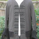 Pirate Coat Tuxedo Renaissance Colonial Jacket Pinstripe Wedding LARP