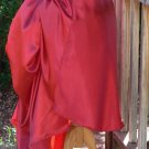 VIctorian Bustle Skirt in Satin Adjustable Waist Steampunk Overskirt