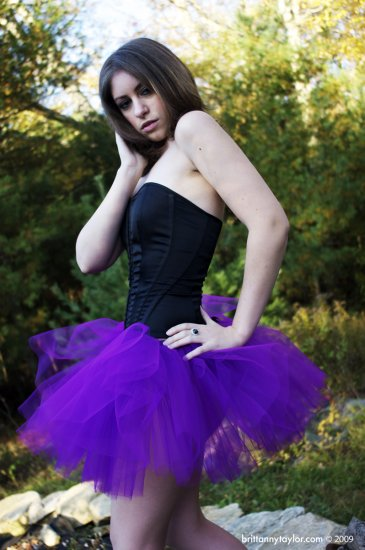 Purple adult dance tutu Large