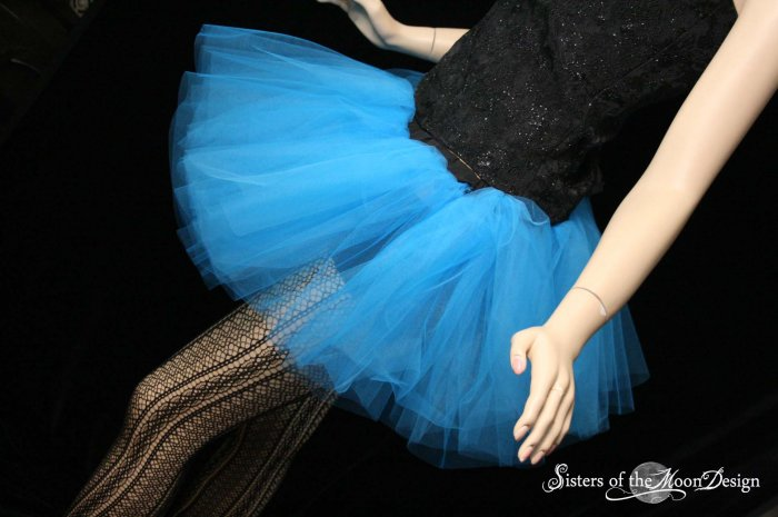 Blue adult dance tutu Large