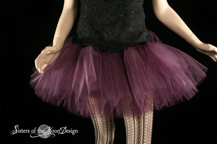 Eggplant Burgundy adult dance tutu Large