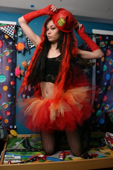 Flame dancer adult dance tutu Small