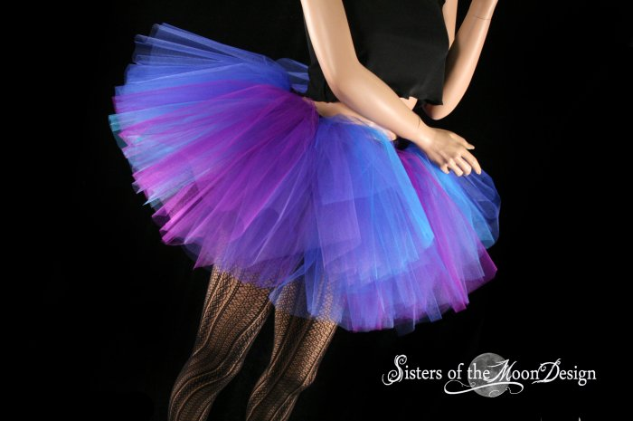 Butterfly tutu extra puffy purple and blue adult Small