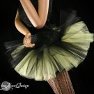 Peek a boo mini black and yellow tutu skirt Adult XLarge-Plus