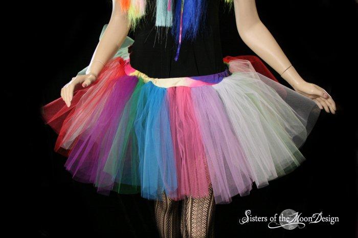 Lighter random Rainbow extra poofy tutu skirt Adult Small