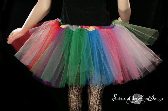 Lighter random Rainbow extra poofy tutu skirt Adult medium