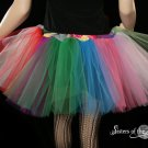 Lighter random Rainbow extra poofy tutu skirt Adult medium
