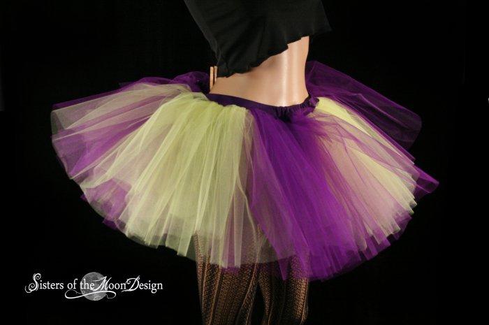 purple and yellow Monster dance tutu Adult petticoat medium
